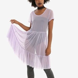 Hot Topic Lavender Babydoll Dress